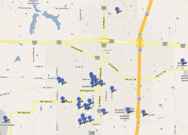 Cameron Mo Clickable Map